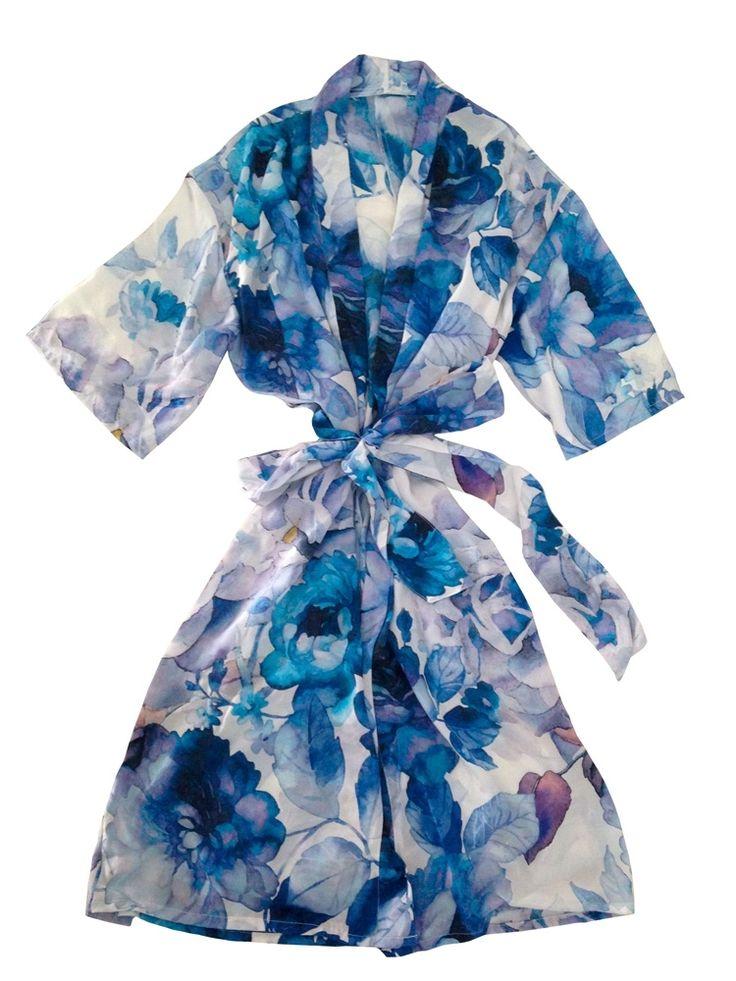 Midnight Ice Silk Robe $129.95. Mrs Darcy.