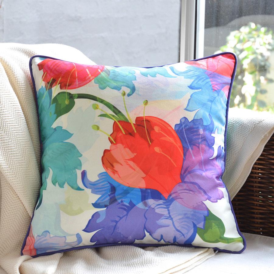Lara_cushion_purple_red_floral_designer_cushions_melbourne_free_shipping_photo1