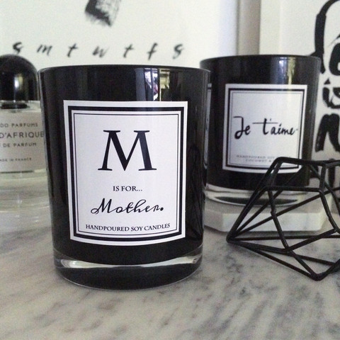 M is for Mother candle $26.95