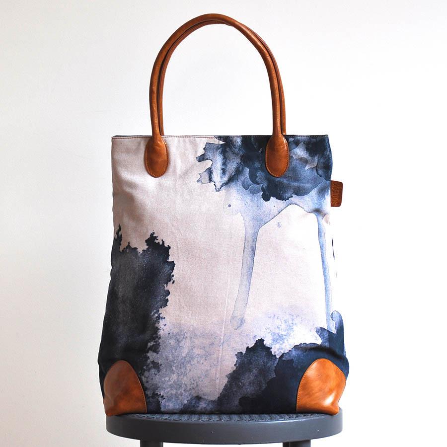 Midnight_ink_tote_bag_indigo_blue_leather_canvas_designer_melbourne_photo2