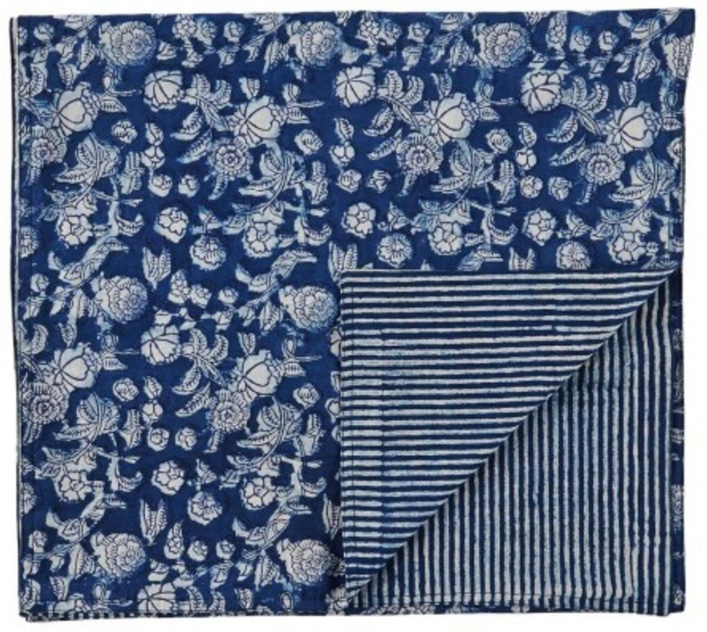 Indigo Hamptons Table runner | Peacocks and Paisleys