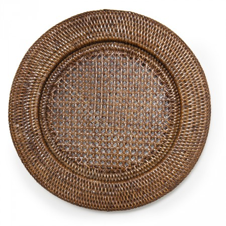 Rattan Placemat, recessed brown | Alfresco Emporium
