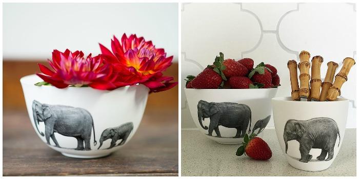 Elephant bowl and tea light set | Milly and Eugene