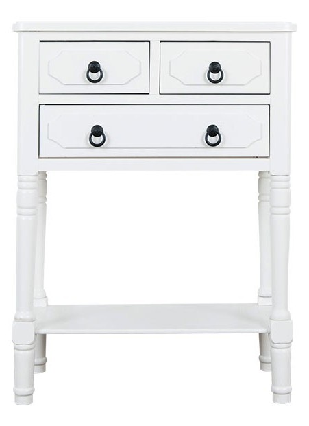 Elise 3 drawer bedside with tray | Provincial Home Living