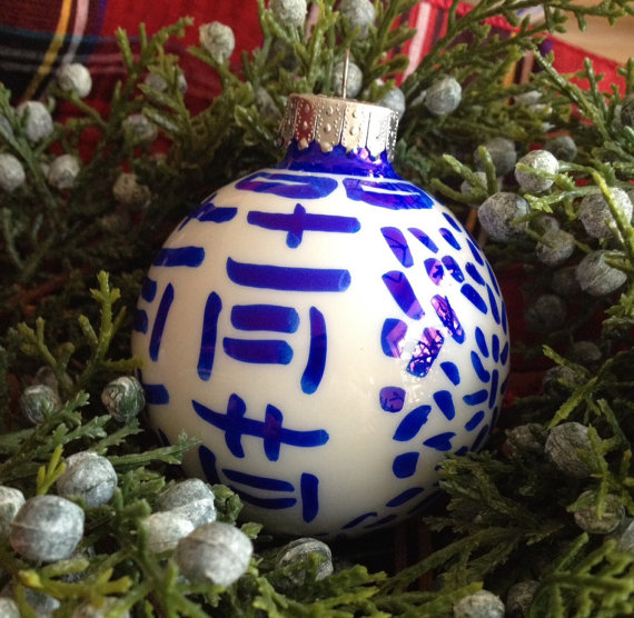 Hand painted ornaments | Indigo Home