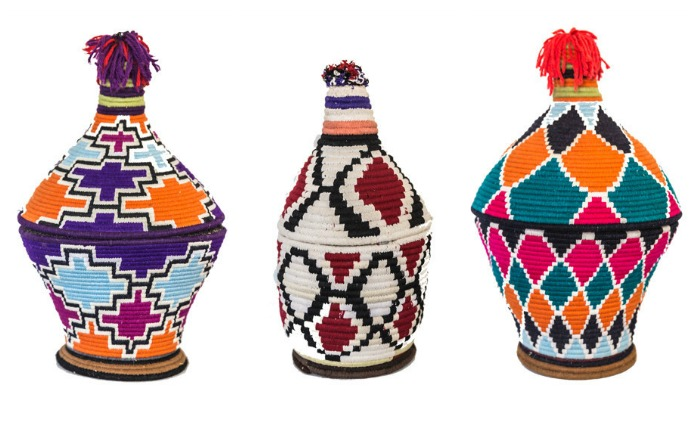 Tall Berber baskets from Souk and Co.