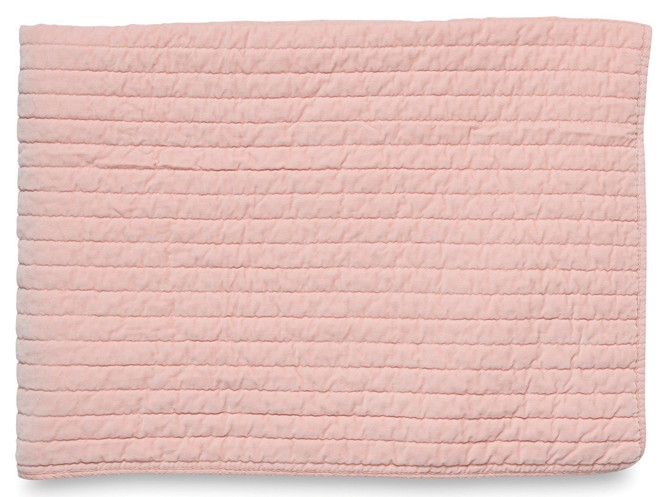 Washed velvet straight line quilted blanket | Citta Design