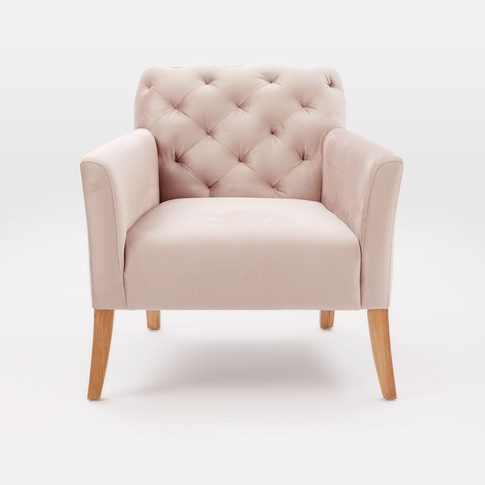 Elton, dusty blush | West Elm