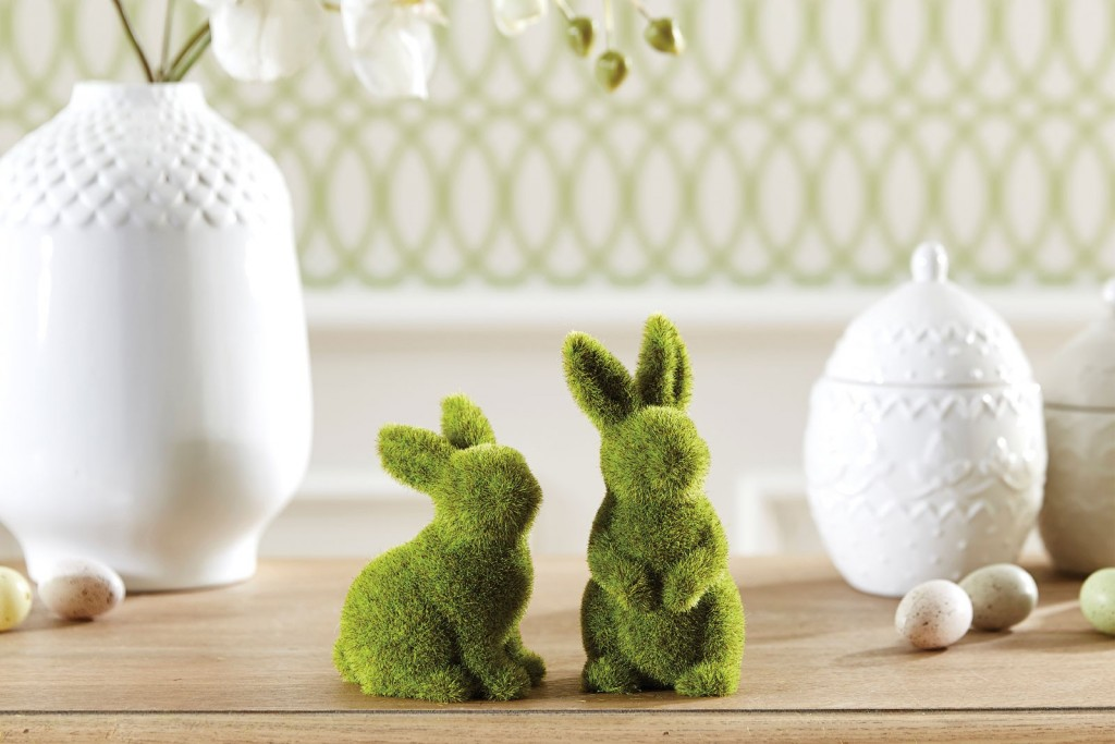 Easter Moss Rabbits | Bed Bath N' Table