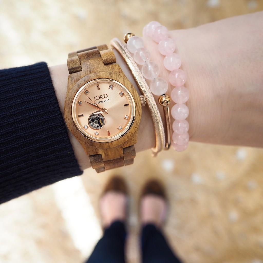 My watch   CORA Koa wood and Rose gold