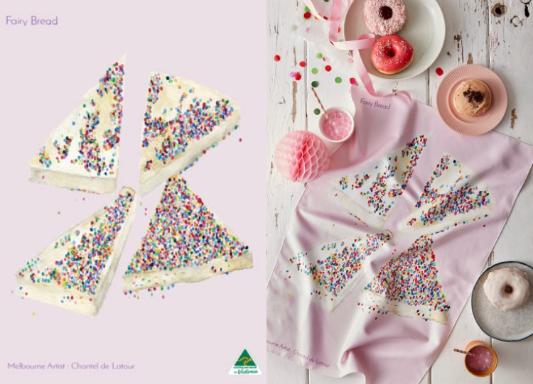 Fairy Bread Tea Towel | KE Designs