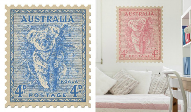 Koala Wall Stamp | Quercus & Co