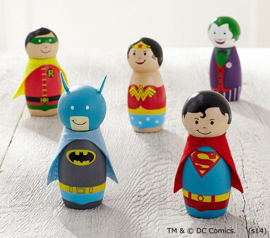 DC SUPERHERO FIGURINES / POTTERY BARN KIDS