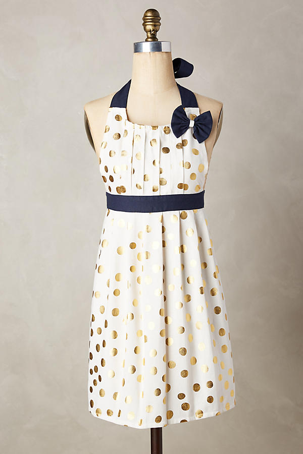 Gold Polka Dot Apron | ANTHROLPOLOGIE