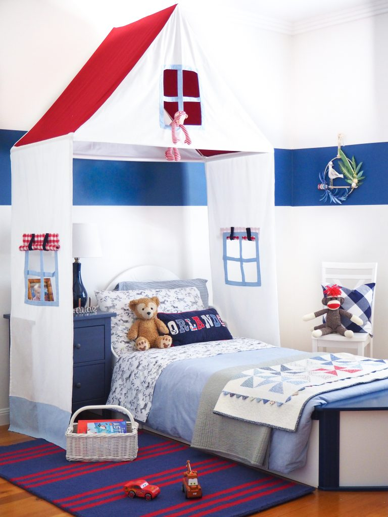 Boat bed, Nautical bedroom, Kids room, Boys bedroom